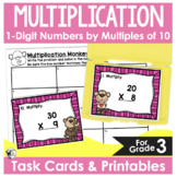 Multiplying One Digit Numbers by Multiples of Ten Task Cards