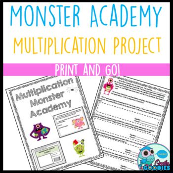 Multiplication Project (Monster Themed)