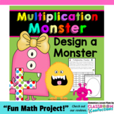 Multiplication Activity: Monster: Math Workshop: 4th-5th Grades