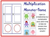 Multiplication Monster Card Game PRINTABLE