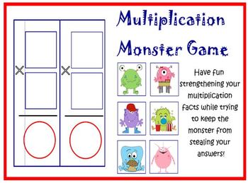 photograph about Factor Game Printable identified as Multiplication Monster Card Video game PRINTABLE
