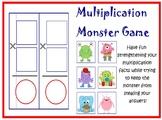 Multiplication Monster Card Game PRINTABLE