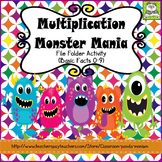Multiplication Monster Mania File Folder Activity Basic Facts 0-9