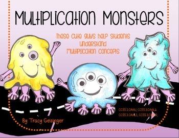 Multiplication Monsters Craftivity