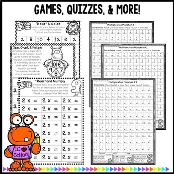 Multiplication Worksheets Practice For Facts 2-12 bundle