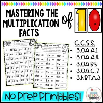 Multiplication Worksheets & Games- Practice For Facts of 10