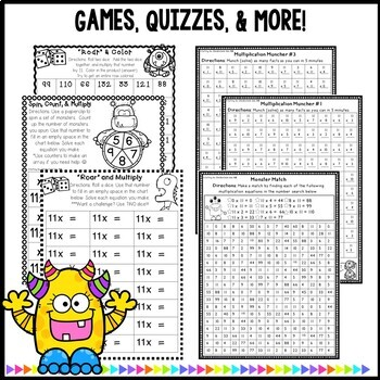 Multiplication Worksheets- Practice For Facts of 11