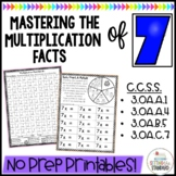 Multiplication Worksheets & Games- Practice For Facts of 7
