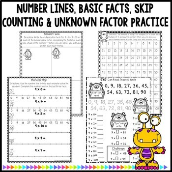 Multiplication Worksheets & Games- Practice For Facts of 9