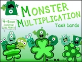 St. Patty's Day Multiplication Monster Task Cards