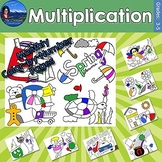 Multiplication Monthly Color by Number Bundle