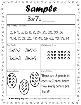 Multiplication Morning Work