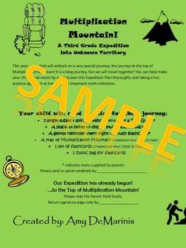 Multiplication Mountain Parent Letter
