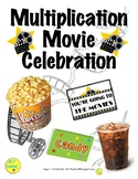 Multiplication Fact Incentive - Memorize & Increase Fluency - Movie Celebration