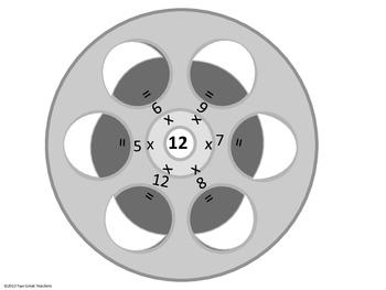 Multiplication Movie Reels