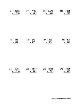 Multiplication: Multi-digit by 3-digit Assessments