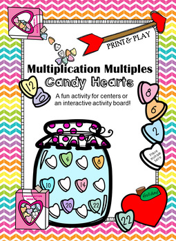 Multiplication Multiples Candy Hearts