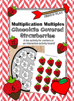 Multiplication Multiples- Chocolate Covered Strawberries