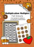 Multiplication Multiples- Fall Donuts