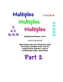 Multiplication Multiples Part 2