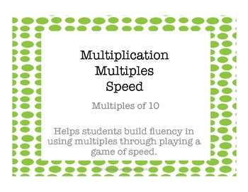 Multiplication Multiples of 10
