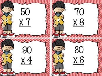 Multiplication Multiples of 10 Task Cards