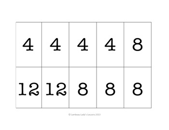 Multiplication Multiples of 4