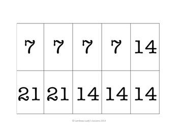 Multiplication Multiples of 7