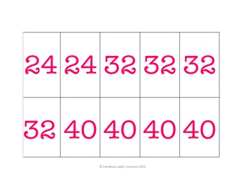 Multiplication Multiples of 8