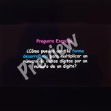 Multiplication - Multiplicacion Spanish PowerPoint
