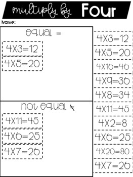Multiplication | Multiplication Sort | Math Center
