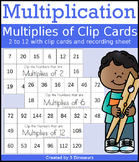 Multiplication: Multiplies of Clip Cards