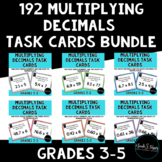 Multiplication (Multiplying) Decimals Task Card Bundle