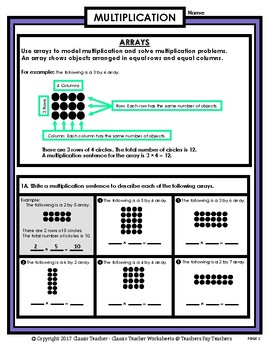 Multiplication - Multiplying with Arrays - Grades 2-3 (2nd-3rd Grade)