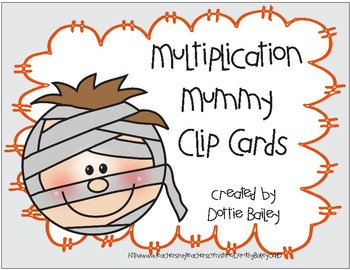 Multiplication Mummy Clip Cards