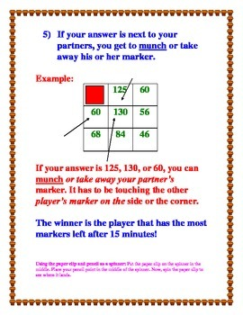 Multiplication Munch Game