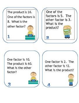 Multiplication Mystery Find the Missing Factors and Products
