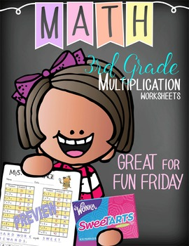 Multiplication Mystery Messages - message reveals candy reward