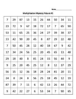 Multiplication Mystery Picture - Christmas Tree