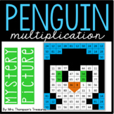 Penguin Multiplication Mystery Picture Winter Math Activity
