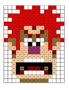 Multiplication Mystery Picture - Wreck-it Ralph