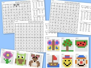 Multiplication Mystery Pictures Color By Number