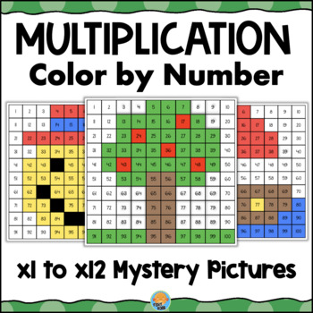 Multiplication Mystery Pictures Color By Code