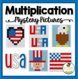 Multiplication Mystery Pictures- USA Patriotic