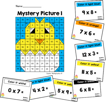 Multiplication Mystery Pictures: Easter
