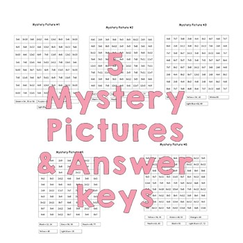 Multiplication Mystery Pictures (Princesses set 1)