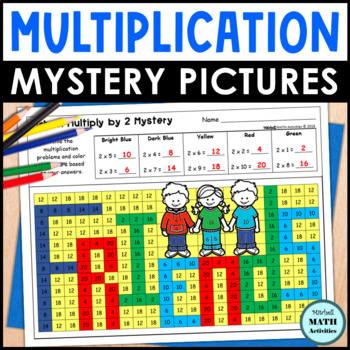 Multiplication Mystery Pictures - School Edition