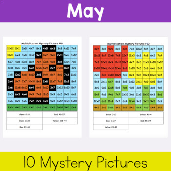 Multiplication Mystery Pictures: Spring Packet