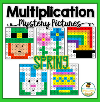 Multiplication Mystery Pictures - Spring/St. Patrick's Day