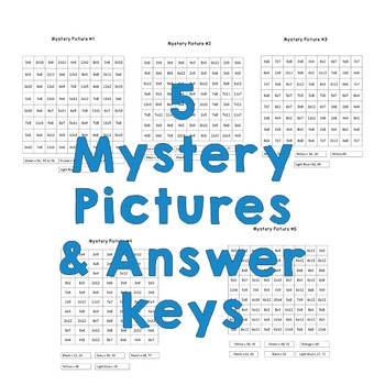 Multiplication Mystery Pictures- Star Wars